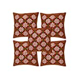 Rajrang Maroon Cotton Patch Work Cushion Cover Set Of 5 Pcs #Ccs04776