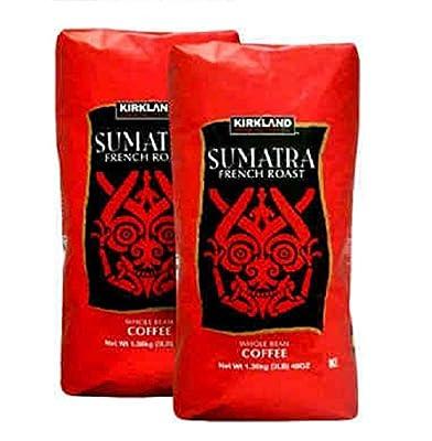 Kirkland Signature Sumatra Whole Bean Coffee 2-3lb Bags