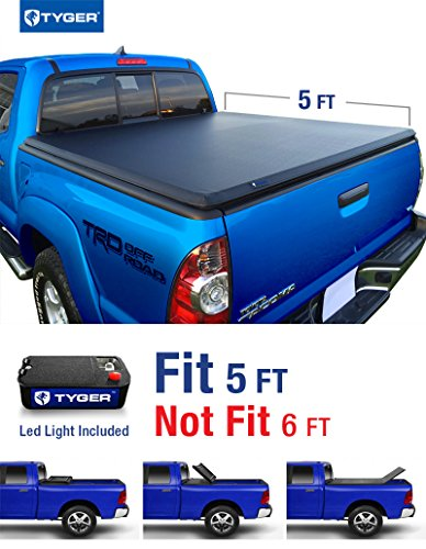 Tyger Auto TG-BC3T1030 Tri-Fold Pickup Tonneau Cover (Fits 05-14 Toyota Tacoma Double Cab (with/without utility track)) (2010 Tacoma Tonneau Cover compare prices)