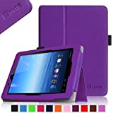 Fintie E FUN Nextbook Premium 8HD SE NX008HD8G Tablet Folio Case Cover - Premium Leather With Stylus Holder 3 Years Warranty [June 2013 Wal-Mart Release] - Violet