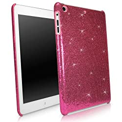 BoxWave Apple iPad mini Glamour & Glitz Case - Sleek Form-Fitting Protective Shell Case w/ Sparkly Glitter Design - iPad mini Cases and Covers (Cosmo Pink)