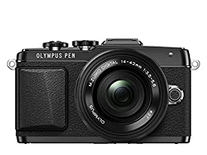 Olympus PEN E-PL7 Interchangeable Lens Camera - Black (16.1MP, M.Zuiko Digital ED 14-42mm 1:3.5-5.6 EZ Pancake Lens) 3.0 inch Touchscreen LCD