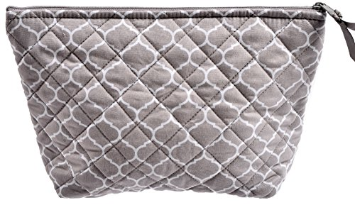 5d610a6bb200 Quilted Koala Women s Large Makeup Travel and Toiletry Bag Happy Basics  Grey Wire