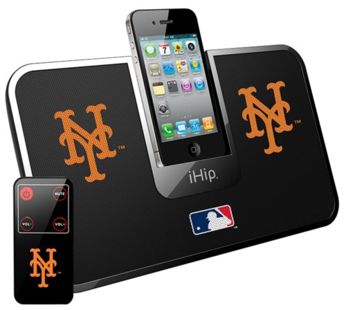 Ihip Official Mlb - New York Mets - Portable Idock Stereo Speaker With Wireless Remote Mlv5000Nym