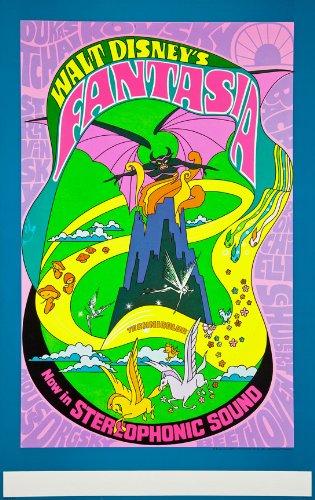 Original-Vintage-Walt-Disneys-Fantasia-ReRelease-19691970-Psychedelic-Movie-Poster