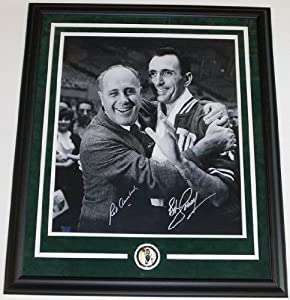 Red Auerbach and Bob Cousy Dual Autographed Hand Signed B+W 16x20 Boston Celtics... by Real Deal Memorabilia
