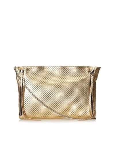 Posse Women's Cruz Cross-Body with Zippers, Gold Perforated, One Size