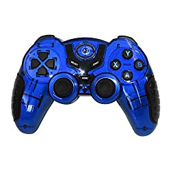 Mobilegear Wireless USB Bluetooth Mobile Joystick Gamepad For Android, iOS,PS3 & PC- Blue