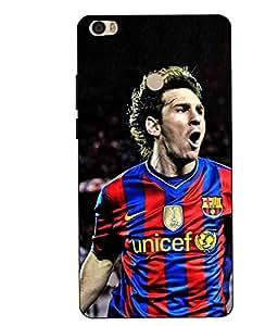 Make My Print Messi Printed Colorful Hard Back Cover For Xiaomi Redmi MI MAX