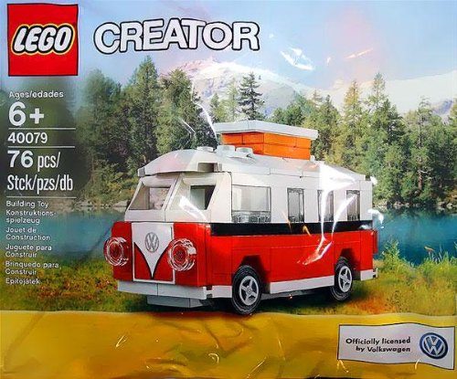 lego exclusive creator 40079 polybag 1962 rv volkswagen t1. Black Bedroom Furniture Sets. Home Design Ideas