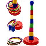 WolVol 18 Colorful Quoits Ring Toss Game Set For Kids