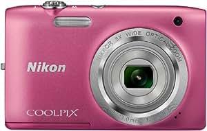 """Nikon CoolpixS2800 Appareil photo numérique compact 20,48 Mpix Écran LCD 2,7"""" Zoom optique 5X Rose"""
