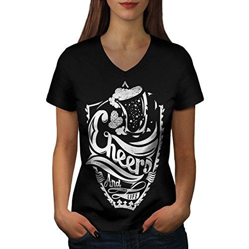 cheers-long-life-fun-epic-drink-women-new-black-s-2xl-v-neck-t-shirt-wellcoda