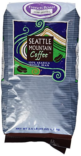 Seattle Mountain Coffee, French Roast, 100% Arabica Whole Beans, 2.5lbs (Seattle Mountain French Roast compare prices)