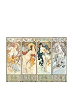 Artopweb Panel Decorativo Mucha Les Saisons 1897 - 31x42 cm Multicolor