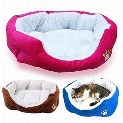 Tinxs Warm Indoor Soft Fleece Puppy Pets Dog Cat Bed House Basket with Mat waterproof