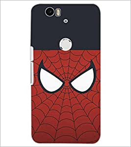 PrintDhaba SpiderMask D-4478 Back Case Cover for HUAWEI NEXUS 6P (Multi-Coloured)
