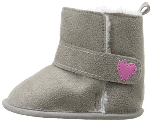 Luvable Friends Baby Girl's Winter Boots (Infant), Gray, 0-6 Months M US Infant