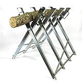 Sägebock klappbar Brennholz Sägehilfe Motorsäge Holz-Schneidebock Metall 4-fach