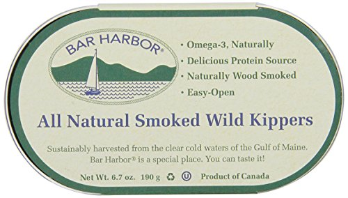 Bar Harbor All Natural Smoked Wild Kippers, 6.7-Ounce Cans (Pack Of 12)