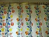 インテリアカーテン 100×90cm(2枚組) マリメッコ marimekko fujiwo ishimoto 植物柄「既製もイージーオーダーも可」安い!一人暮らしや子供部屋用にも「お届け約1週間」 共布タッセル付けます/ @¥250円,-