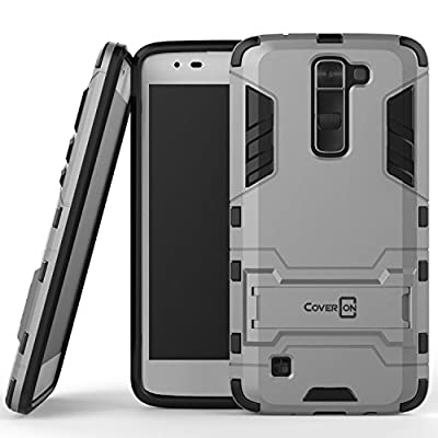 LG Treasure Case, CoverON® [Shadow Armor Series] Hard Slim Hybrid Kickstand Phone Cover Case for LG Treasure by CoverON
