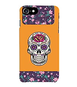 Fiobs Skull Look Rose Rock Star Look Theme Phone Back Case Cover for Apple iPhone 7 Plus (5.5 Inches)