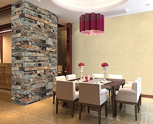 La pared de ladrillo del papel pintado qihang realzado con - Papel pared ladrillo ...