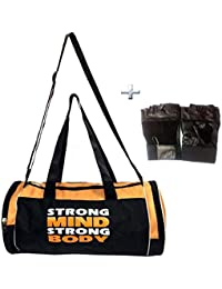 Combo Protoner Gym Bag Strong Mind Strong Body With Gloves