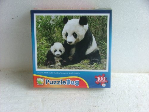 Puzzlebug 100 Piece Puzzle. Mama and Baby Panda.