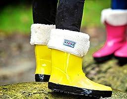 Stonz Natural Rubber Rain Boot (Toddler/Little Kid/Big Kid), Yellow, 8T