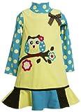 Bonnie Jean Girls Owl-On-Branch' Applique Corduroy Jumper Dress