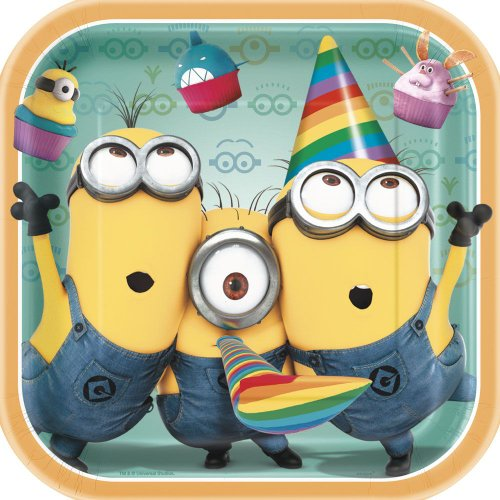 "Read About Despicable Me 2 9"" Square Plates, 8-Piece"
