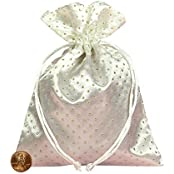 "Tarot Bags: White 6"" X 9"" Satin Pearl"