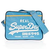 SUPERDRY ALUMINI FOOTBALL/MESSANGER/ INTERNATIONAL/ OUTDOOR SHOULDER BAGS (SKYBLUE/GOLD ALUMNI FOOTBALL BAG)
