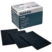 "Scotch-Brite Light Duty Hand Pad 6448, 9"" Length x 6"" Width, Ultra Fine Grit (Pack of 20)"