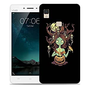 Snoogg Monster Girl Designer Protective Back Case Cover For VIVIO V3 MAX