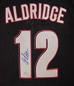 LaMarcus Aldridge Portland Trail Blazers Autographed Black #12 Jersey