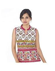Parinita Women Brown Cotton Printed Short Top