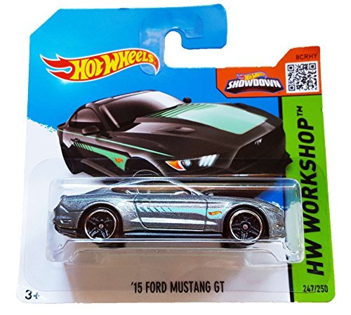 Hot Wheels HW Workshop 247/250 Grey and Green '15 Ford Mustang GT on Short Card by Hot Wheels