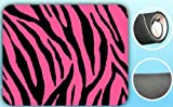 Zebra Print Pink/Black Soft Padded Mouse Pad