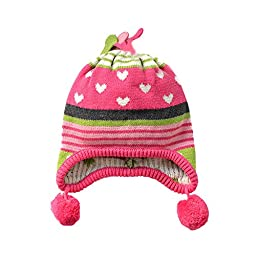 Tou Baby Girl\'s Winter Hats Warm Crochet Hats Christmas Caps 0-10t (12-24M)