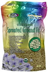 Sprout Revolution Nutrasprout Premium Organic Sprouted Ground Flax, 16-Ounce Pouch (Pack of 2)