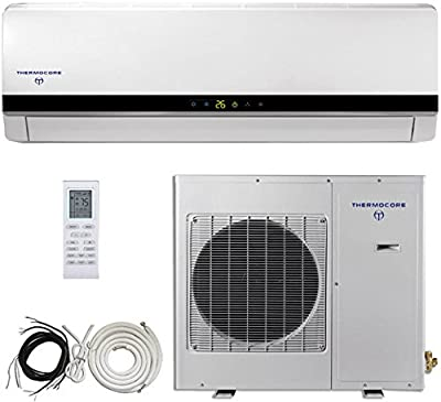 Thermocore Systems 16 SEER 3 Ton Ductless Mini Split Air Conditioner System, Heat Pump, 36000 BTU, Inverter, Cooling, Heating, Dehumidification. Includes 25 Foot Installation Kit. 220~240 VAC