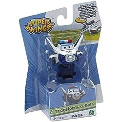 Giochi Preziosi - Paul, Aereo Robot Personaggio Trasformabile Articolato, Alto 5 Cm