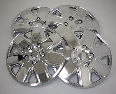TuningPros WSC-026C16 Chrome Hubcaps Wheel Skin Cover 16-Inches Silver Set of 4