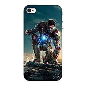 Ajay Enterprises Iron Prepso Back Case Cover for iPhone 4 4s