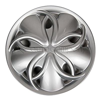 "Silver 15"" Hub Caps Full Wheel Rim Covers w/Steel Clips (Set of 4) - KT-912S-15"