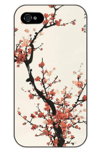 Sprawl New Fashion Design Hard Skin Case Cover Shell For Mobilephone Apple Iphone 5 5S--Lovely Plum Flower