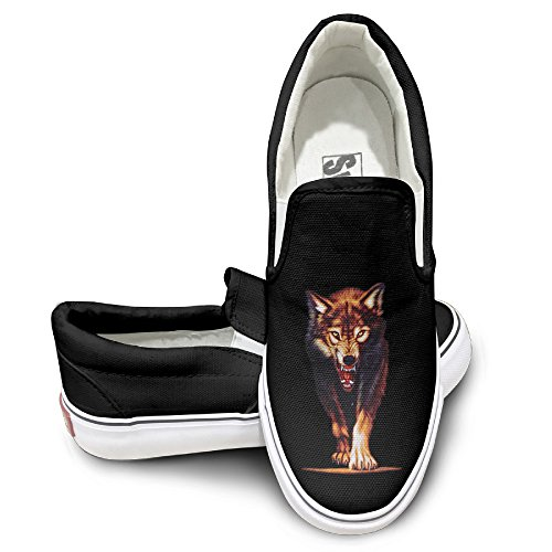 GD Mr.Wolf Athletic Unisex Flat Canvas Shoes Sneaker 44 Black (Hp Hard Drive Toaster compare prices)